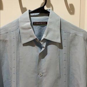 🍺Cubavera light blue casual shirt size M 🍺